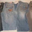 Lot of 4 Juniors Jeans South Pole Wet Seal Angel Nissi Size 7