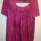 Womens Alyx blouse size XL magenta pink short sleeve top