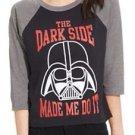 Juniors Disney Star Wars Darth Vader tshirt size S NWT