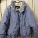 Womens Cornice blue white down snowboarding ski winter snow jacket size L