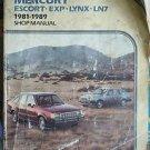 CLYMER SHOP REPAIR SERVICE  MANUAL FORD  MERCURY ESCORT LN7 LYNX 1981 - 1989