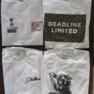 Lot of 4 Deadline White T-shirts Size XXL