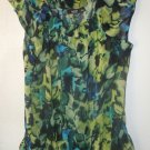 Womens a.n.a blue/green/black sleeveless blouse size L