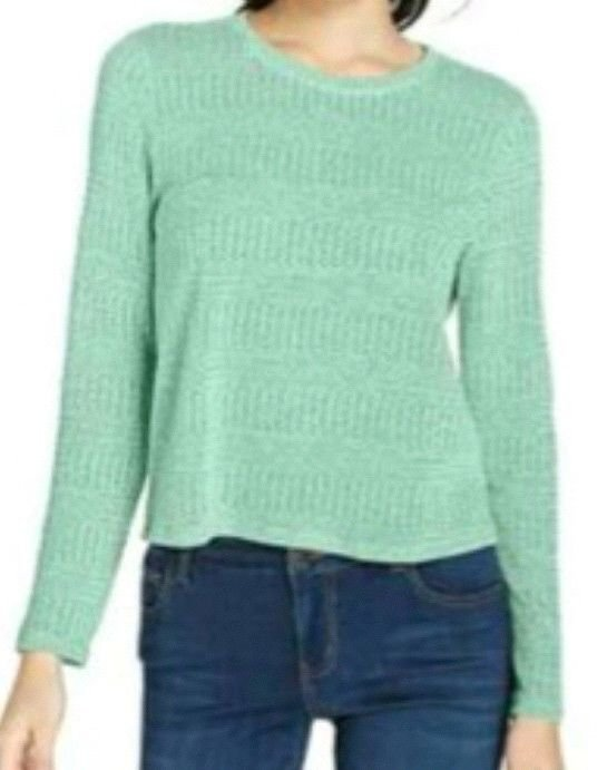 One Clothing womens mint green crew neck sweater size M NWT from Macy's
