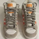 Adidas Super Skate Mid Tops Grey/White/Orange Leather Athletic Shoes Size 7
