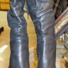 "Womens Bronx ""Vivian"" black leather point toe boots size 6 1/2"