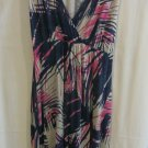 Liz Lange Maternity Dress Size XXL Pink/Blue/White