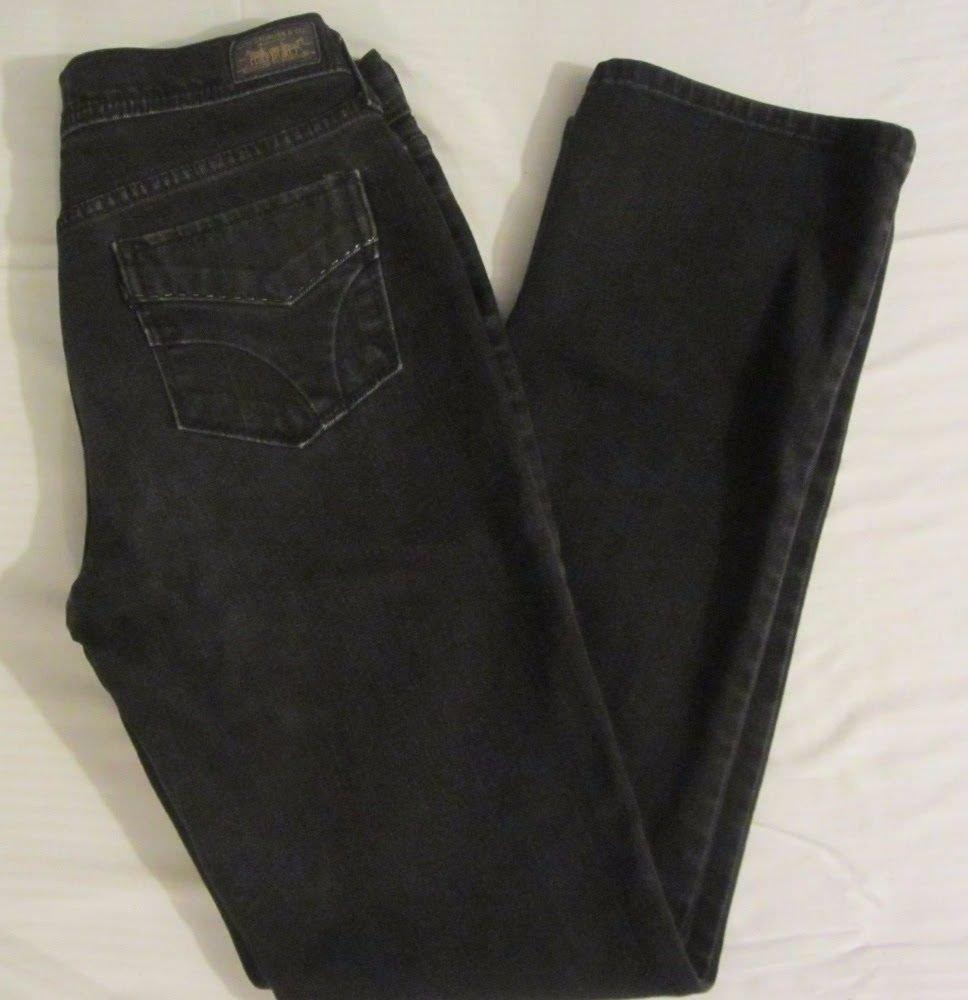 Womens Levis 505 Straight Leg Black Jeans Size 4M