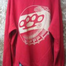 Mens 10 Deep Pullover Sweatshirt Brass Knuckles Red Size 2XL