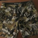 Mens Local Motion Camouflage Swim Trunks Size 42