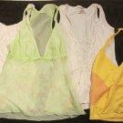 Juniors Summer Tops Shirts Size XS X-Small Yellow Green White CUTE!