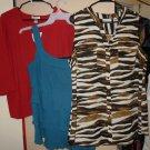 Dressbarn Kathy Che Pat Rego Lot Top Shirts Blouses Womens Plus Size 1X 14/16W