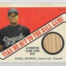 2004 Topps Cracker Jack Baseball ANGEL BERROA Game Used Bat Relic TB-AB Royals