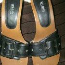 Womes Splash Black Slip on Sandals Heels Size 8.5