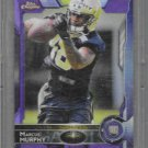2015 Topps Marcus Murphy Rc Football Chrome Purple Refractors Card  # 143
