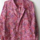 Womens Spasso pink/purple/brown zipper front lightweight jacket size L
