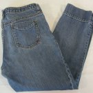 Womens Banana Republic Cropped Blue Jeans Size 10
