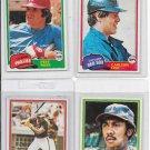 Lot of 1981 Topps Baseball Cards Rose #180 Winfeild #370 Fisk #480 Jenkins #158