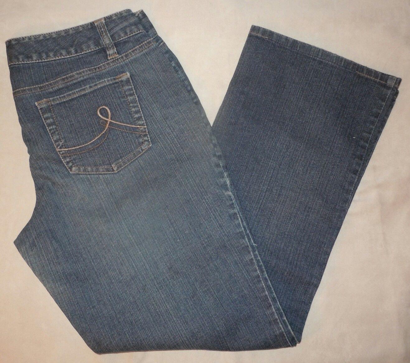 Womens Ann Taylor Loft Slim Boot Cut Blue Denim Jeans Size 10P