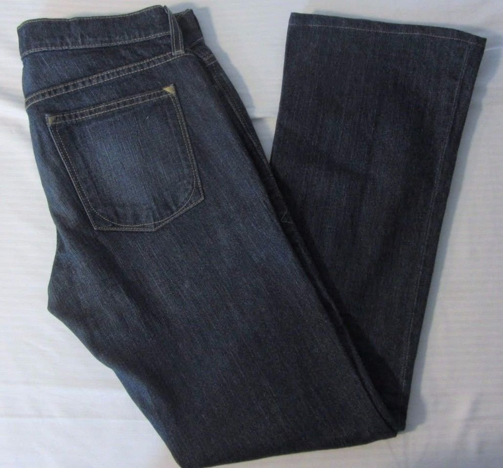 Womens OND Old Navy Denim Ultra Low Waist Boot Cut Dark Wash Jeans Size 6