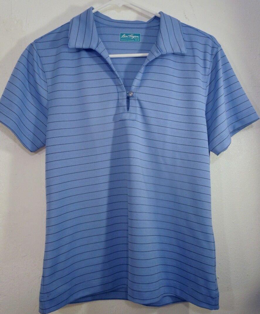 Womens Ben Hogan Blue Polo Golf Performance Shirt Size M