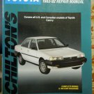 Chilton Toyota Camry Repair Manual 1983-92 #8295