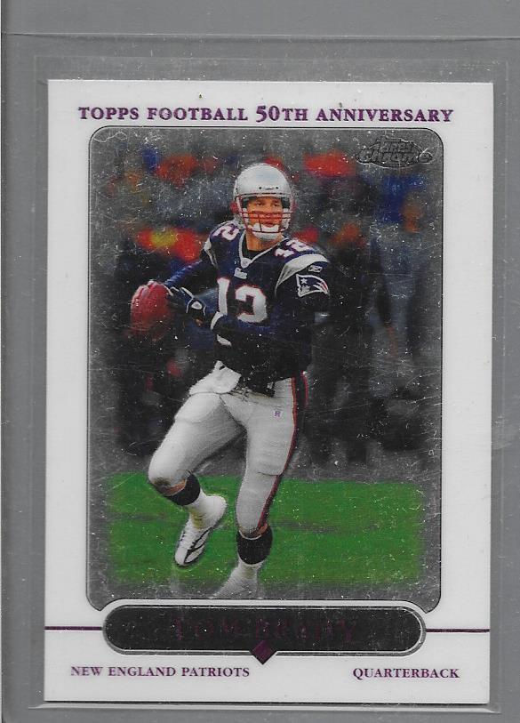 2005 Tom Brady  Topps chrome  # 46 New England Patriots Football