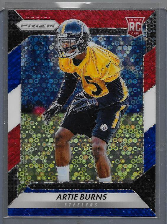 2016 Artie Burns ( RC ) Football Prizm  Refractors ~ Red, White & Blue #205 Card