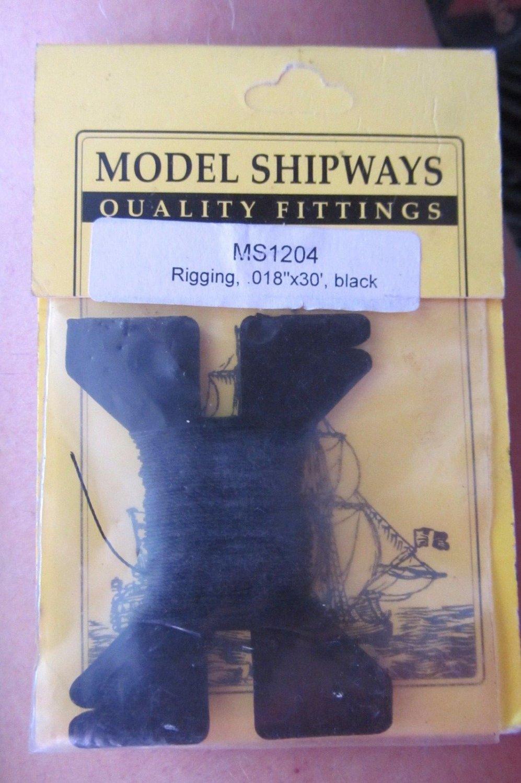 """Model Shipways Rigging MS1204 .018""""x30' Black"""