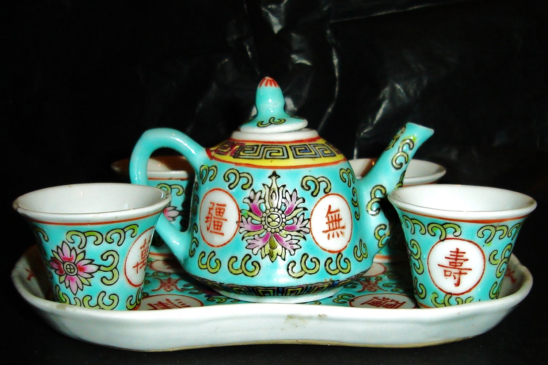 Vintage porcelain tea set China