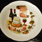 Old porcelain plate from Limoges, France
