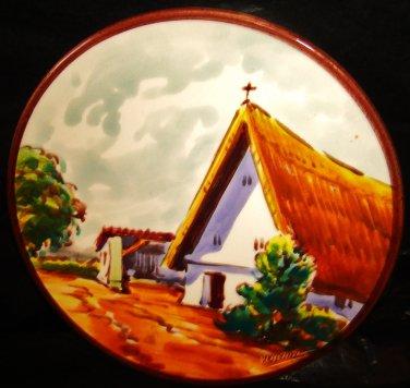Old decorative plate of ceramics of Manises - Spain