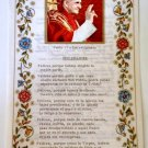 Old religious stampa of Pope Paul VI