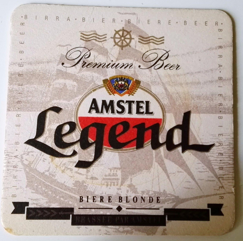 AMSTEL Legend beer coasters