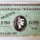 Old advertising credit card AMERICAN EXPRESS