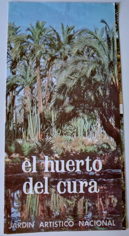"""Triptych advertising """"El Huerto del cura"""", national artistic garden - Spain, Elche - 1974"""