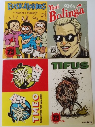 Batch of TMEO magazine stickers
