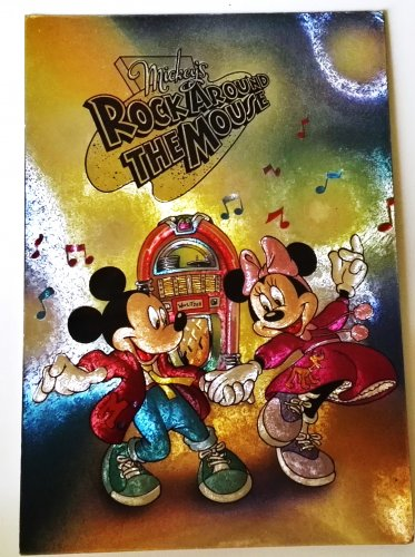 Postcard Disney vintage / Mickey's rock around the mouse - Mickey and Minnie / France