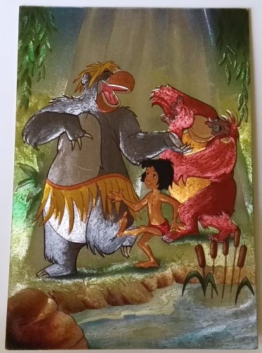 Postcard Disney vintage / The Book of the Jungle - France