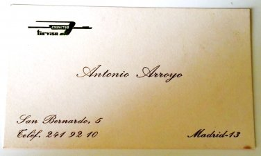 """Old business card of the company """"Circuits Turvisa"""" / Spain"""