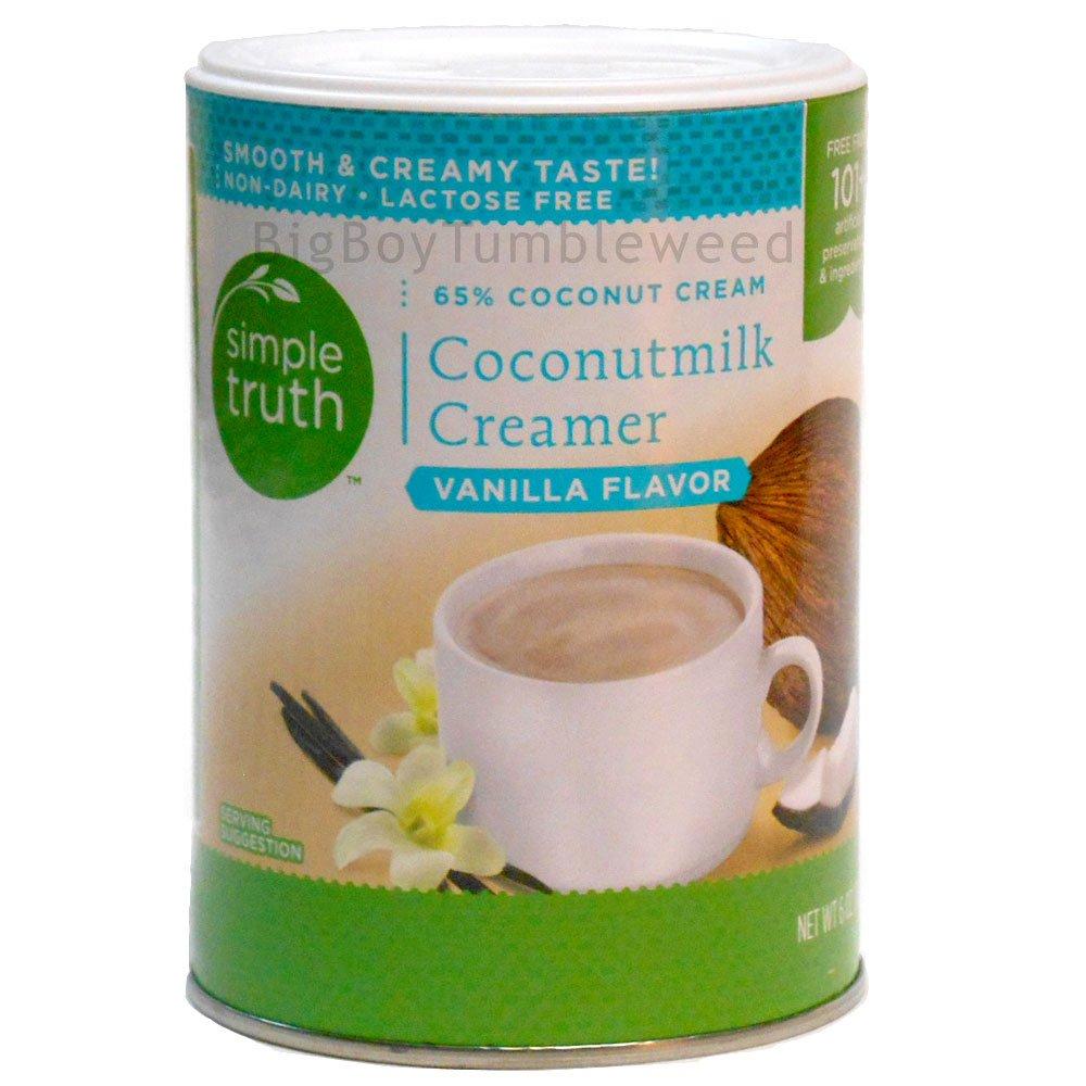 Simple Truth Coconut Milk Coffee Creamer Vanilla Flavor 6 oz powder drink mix