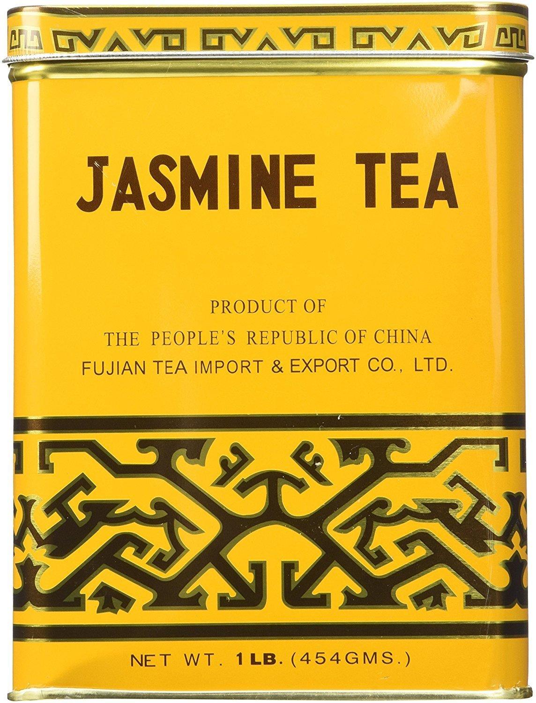 Sunflower Loose leaf Jasmine Green Tea 1 LB tin classic hot drink beverage