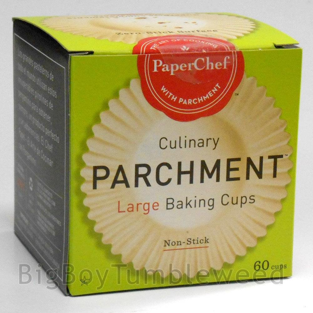 2 pc PaperChef Culinary Parchment Large 60 baking Cups nonstick cupcake liners wrappers muffin