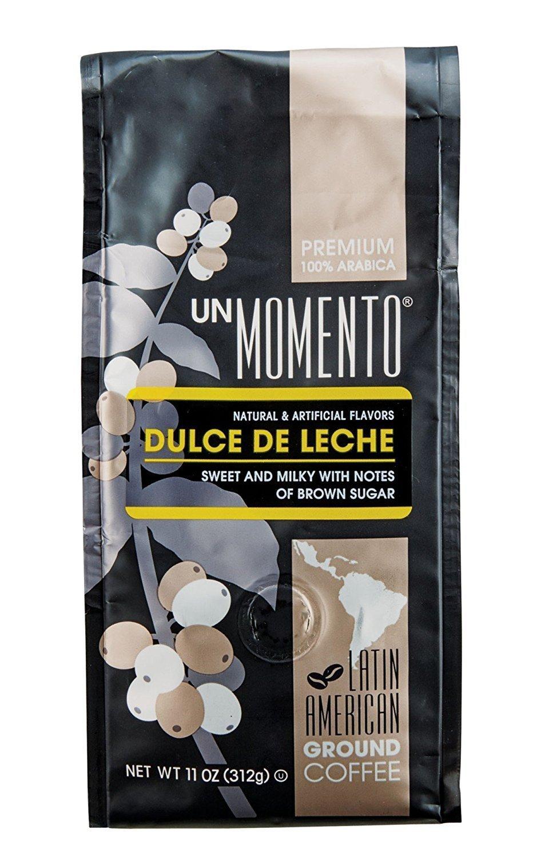 Un Momento Dulce De Leche Ground Caramel flavored ground Coffee 11 oz beverage Gourmet drink