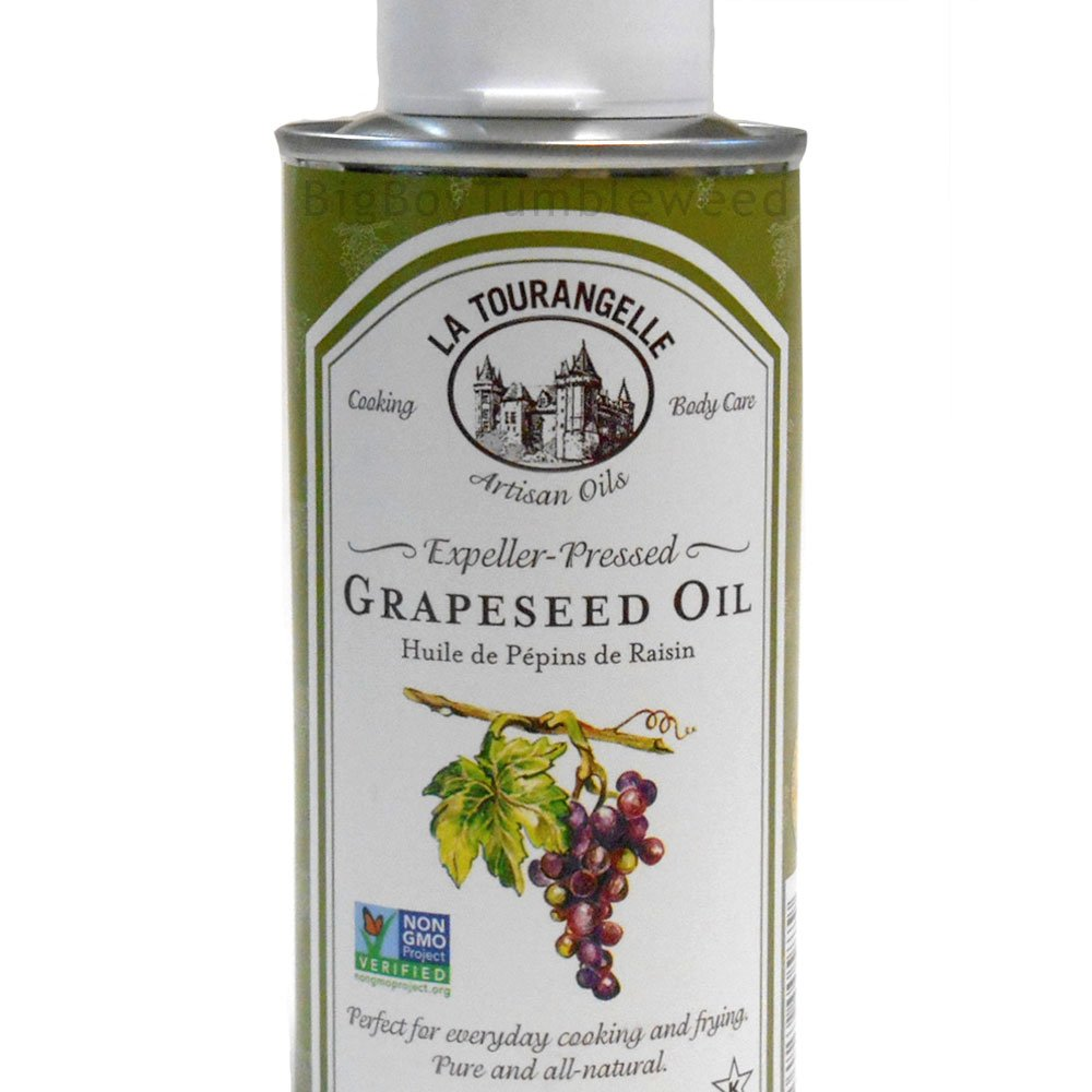 La Tourangelle Pure Premium GRAPESEED Oil 8 oz Non GMO Omega 9 French Gourmet dipping cooking