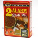 Wick Fowler's Texas Style 2 ALARM Chili kit SPICE kit ground meat Seasoning MIX cooking dinner