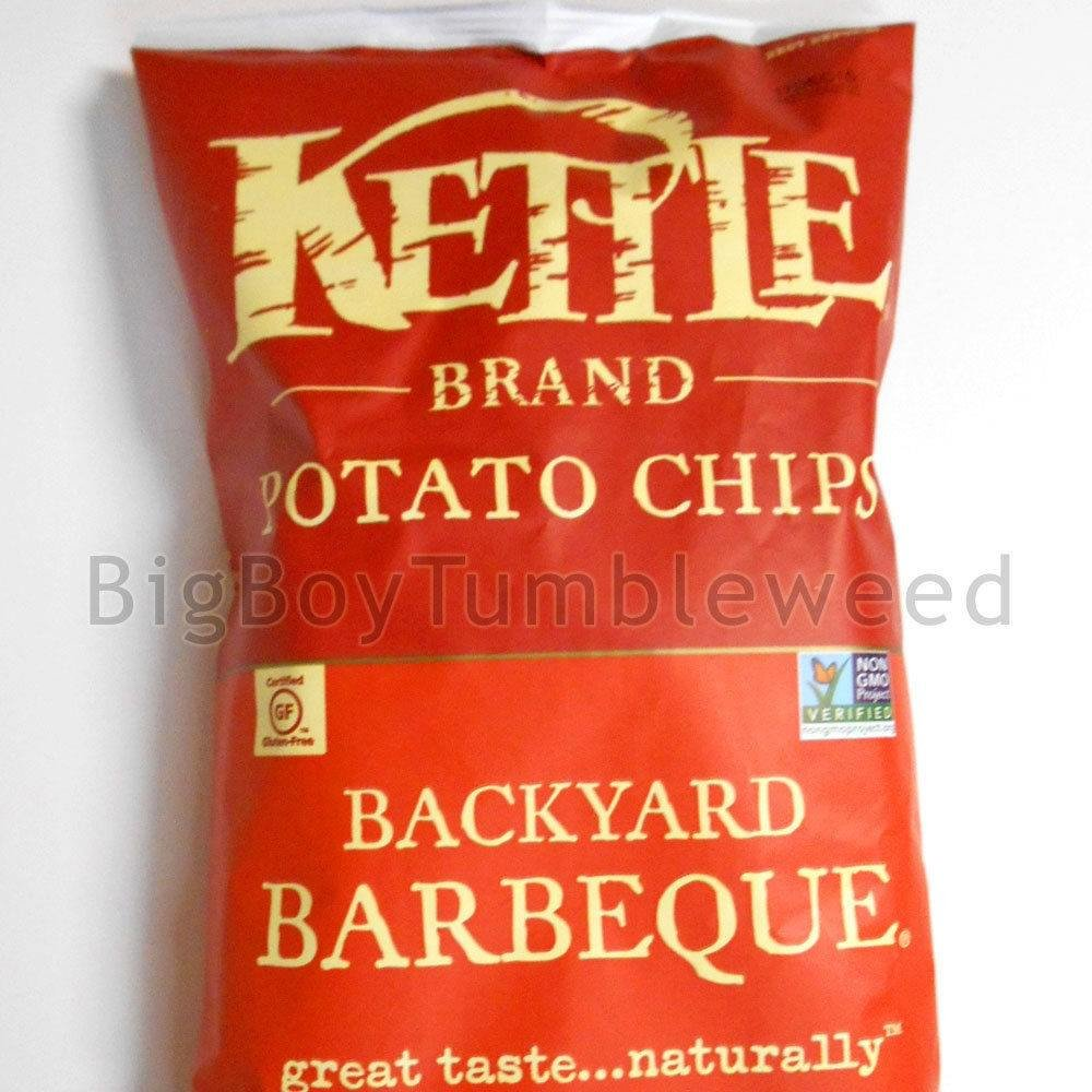 KETTLE Brand Backyard BBQ Barbeque snack potato chips cooked crispy 8.5 oz food Barbecue Southern
