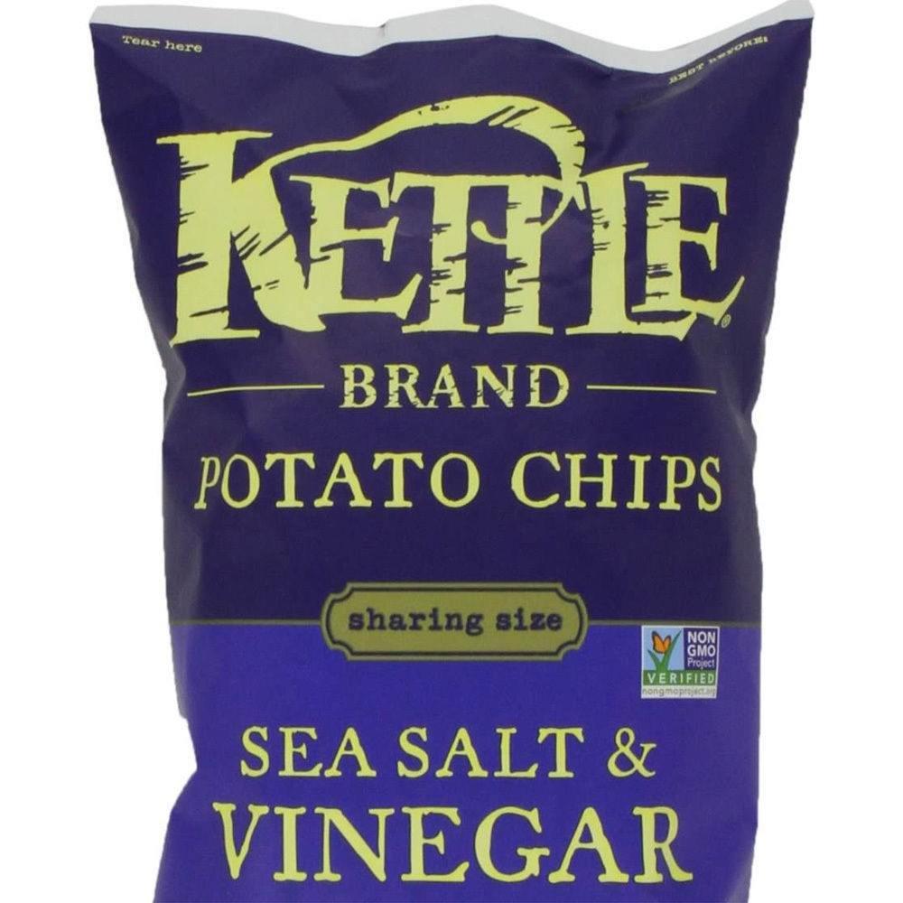 KETTLE Brand Potato Sea Salt & Vinegar salty snack 8.5 oz classic Non-GMO food