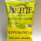 KETTLE Brand Potato Chips Pepperoncini pepper hot spicy snack 8.5 oz bag Non-GMO food