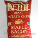 KETTLE BRAND Potato chips Maple Bacon flavor 8.5 oz bag snack lunch cooked sweet salty non-gmo